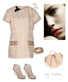 """""""sorbet"""" by gigiwhoot on Polyvore featuring Tory Burch, Sergio Rossi, Marc Jacobs, Bonheur, Chanel and St. John"""