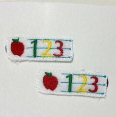 Number hair clips by TheQuiltHandler on Etsy, $5.00