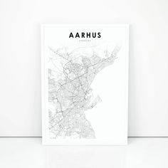 Aarhus sightseeing map Maps Pinterest Aarhus and City