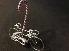 Candy Cane Road Bike Christmas Ornament - Holiday Home Decor Bicycle Gift Cycling Art - Gifts for Him,Her,Mom,Dad,Boys,Girls,Kids,Cyclists