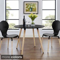 Shop for Track Circular Black/ Natural Dining Table. Get free shipping at Overstock.com - Your Online Furniture Outlet Store! Get 5% in rewards with Club O!