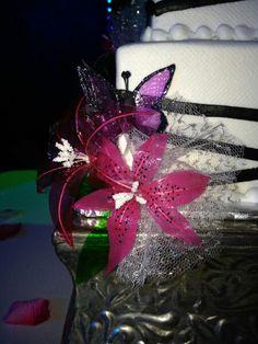 Gelatin Butterfly and flower by FunWithSugar; #funwithsugar