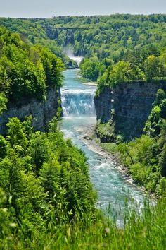 Waterfall Letchworth, New York