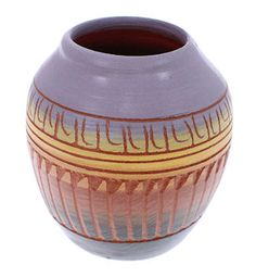 Native American Miniature Pot - Vase Hand Crafted by Navajo C. Benally KS73542 http://www.silvertribe.com