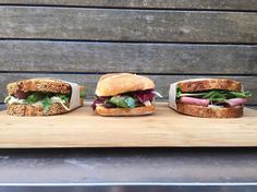 What's your pick today? We have: - Roasted chicken, basil pesto, caramelised shallots, rocket - Pastrami, gruyere, house made pickles, sauerkraut - Vintage cheddar, red onion chutney, apple, celery, walnuts  #toughlifedecisions #sandwich #selection #tivoliroadbakery