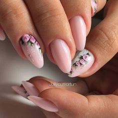 nails, You can collect images you discovered organize them, add your own ideas to your collections and share with other people. Cute Almond Nails, Teen Nails, Fail Nails, Natural Acrylic Nails, Floral Nail Art, Dream Nails, Purple Nails, Flower Nails, Nail Arts