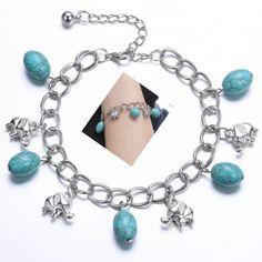 Turquoise Elephant Bracelet NWOT Turquoise Elephants Bracelet Jewelry Bracelets