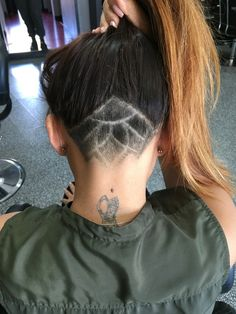 Undercut Hair Tattoo - my second touch up looks like this. I'm loving this part of my head shaved and designed.