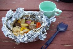 camping food: sweet & sour meatball hobo meals