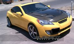 Hyundai Genesis Coupe With  Axis Shine Wheels -  Axis Shine machined face gunmetal wheels, Axis Shine machined face gunmetal wheels:
