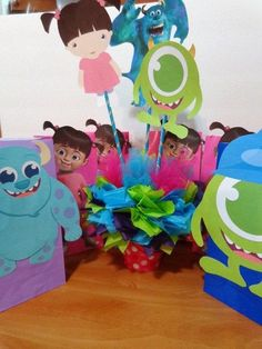 Monsters Inc. Centerpiece by SweetCreationsbySu on Etsy, | http://my-party-ideas-collections.13faqs.com