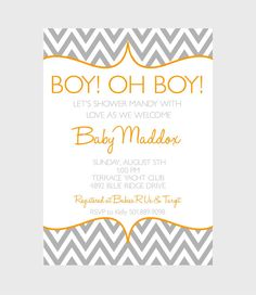 Chevron Invitation CUSTOM to any COLOR scheme by ktozdesign, $10.00 for a wedding of course!!!