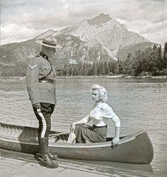Marilyn Monroe in Banff, Alberta, 1953