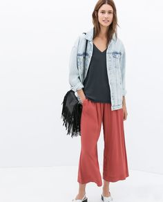 ZARA - NEW THIS WEEK - LOOSE CROPPED TROUSERS