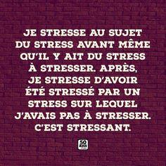 Le stresse. #citation #citationdujour #proverbe #quote #frenchquote #pensées #phrases