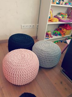 Pale pink Pouf Footstool-Nursery Decor-Floor by 2stitch on Etsy