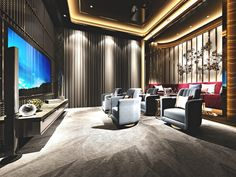Top 70 Best Home Theater Seating Ideas - Movie Room Designs Home Theater Room Design, Home Cinema Room, Best Home Theater, Home Theater Rooms, Home Theater Seating, Theater Seats, Cinema Art, Ecran Projection, Home Theater