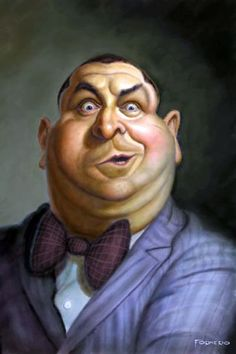 "Caricature: ""Curly"" (3 Stooges)"
