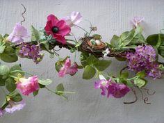 Spring garland silk morning glories lilac by EnchantedForestByDee