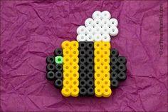 Bee Hama bead fridge magnet