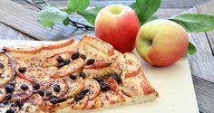 Pizzakake med eple og kanel