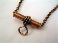 COPPER BAIL HANDCRAFTED Oxidized by SupplyYourSoul on Etsy
