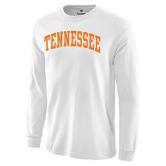 Men's White Tennessee Volunteers Basic Arch Long Sleeve T-Shirt