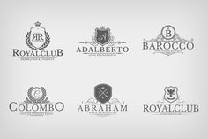Heraldic Crest Logos Vol.6 by Zeppelin Graphics on Creative Market