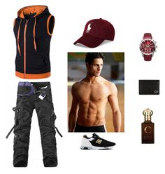 """""""D _ S"""" by denissalihovic123 ❤ liked on Polyvore featuring New Balance, Allurez, Gucci, Clive Christian, Polo Ralph Lauren, men's fashion and menswear"""