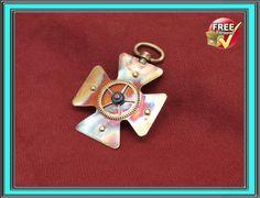 Steampunk jewelry meadal pendant on Handmade Artists' Shop