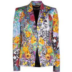 VERSACE paisley print jacket ($2,028) found on Polyvore
