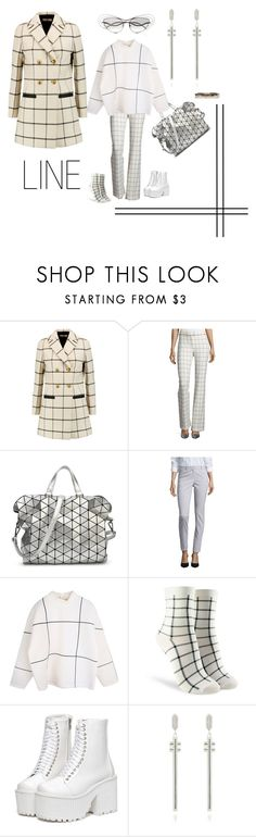"""LINE"" by michelle858 ❤ liked on Polyvore featuring Tory Burch, 10 Crosby Derek Lam, Bao Bao by Issey Miyake, Worthington, Forever 21, Comfort Station, pattern and linegrid"