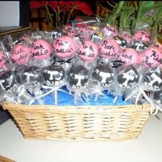 Grease cake pops! Pink ladies and T birds!