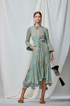 M'O Exclusive Rose Bertin Silk Double Georgette Dress by Johanna Ortiz
