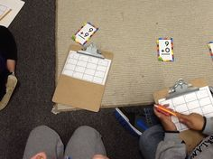 Math Fact Scoot.  Could be used to practice combinations of 10 or others