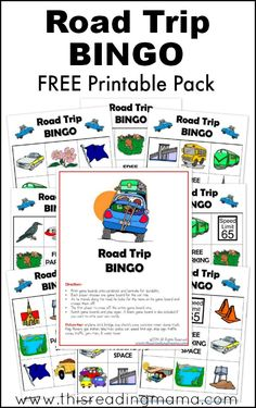 FREE Road Trip BINGO Printable Game... just what I need for our long car ride!!