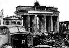 The Brandenburg Gate is one of the most legendary monuments in Europe. Located in the west of Berlin Center, the Brandenburg Gate was inaugurated by King Berlin 1945, Berlin City, Berlin Germany, Germany Area, World History, World War Ii, Greek History, Old Pictures, Old Photos