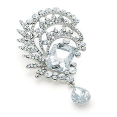 vintage style crystal ladies womens fashion dressbrooch | 14583 | £16.95