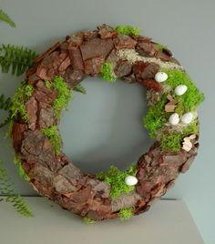Natural wreath, moss, easter wreath https://www.facebook.com/Bakardo/ #bakardo