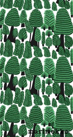 マリメッコ/ネイチャーパターン17 iPhone壁紙 Wallpaper Backgrounds iPhone6/6S and Plus Marimekko Nature Pattern iPhone Wallpaper