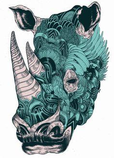 Rhino By Iain Macarthur #art #animal