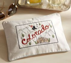 Colorado Embroidered Pouch #potterybarn