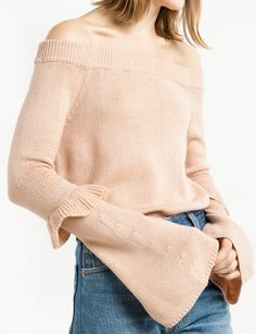 Blush Off The Shoulder Sweater