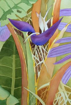 Birds of Paradise Tree 15 x 22 by Rebecca Brown