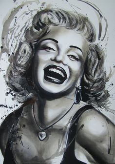 Happy Marilyn, painting by Manuel couto