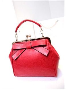 Lovely Bow Knot Solid Color Women's Tote Bag