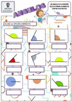 Ángulos Idioma: español (o castellano) Curso/nivel: 3º a 6º Primaria Asignatura: Matemáticas Tema principal: Geometría Otros contenidos: Decimal, Math School, Learning Time, School Items, School Subjects, Home Schooling, Interactive Notebooks, Google Classroom, Teaching Math