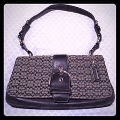 Coach Bag Black and Grey with adjustable strap Coach Bags Mini Bags
