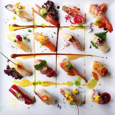 Sushi. The Art of Plating #plating #presentation