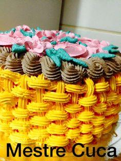 cesta, bolo, cake, chantilly, decoração, festa, nutella,